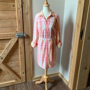 Tommy Hilfiger shirt dress long sleeves size M EUC